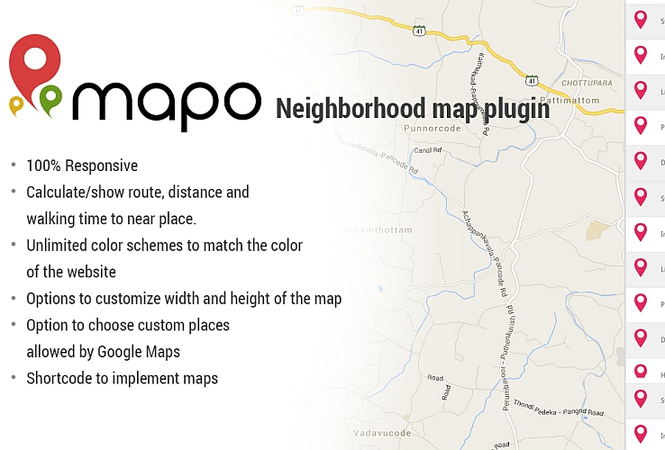 Mapo WordPress Plugin via CodeCanyon