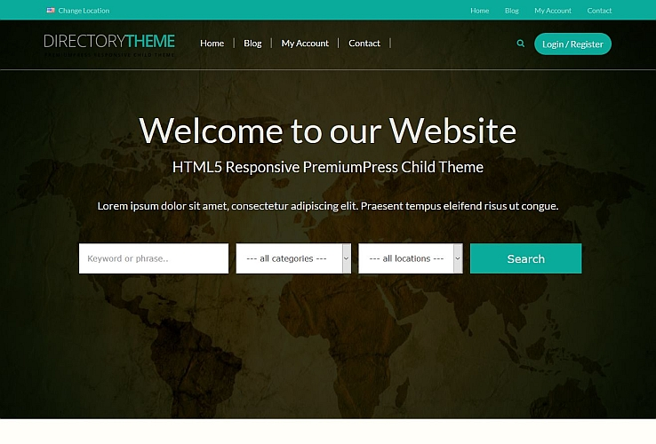 Directory WordPress Theme by PremiumPress