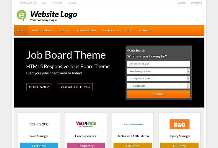 Job Board Theme WordPress Theme by PremiumPress