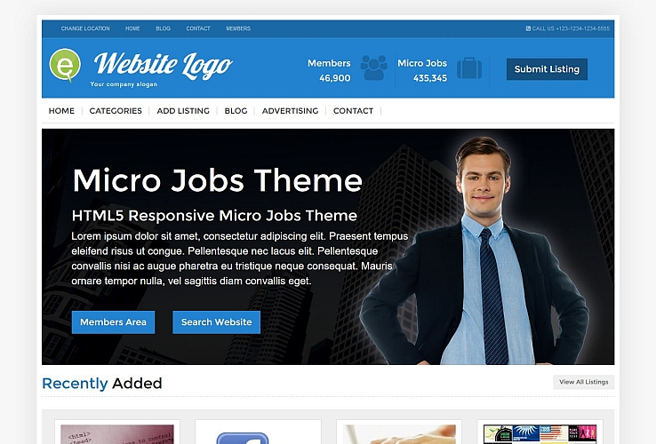 Micro Jobs WordPress Theme by PremiumPress