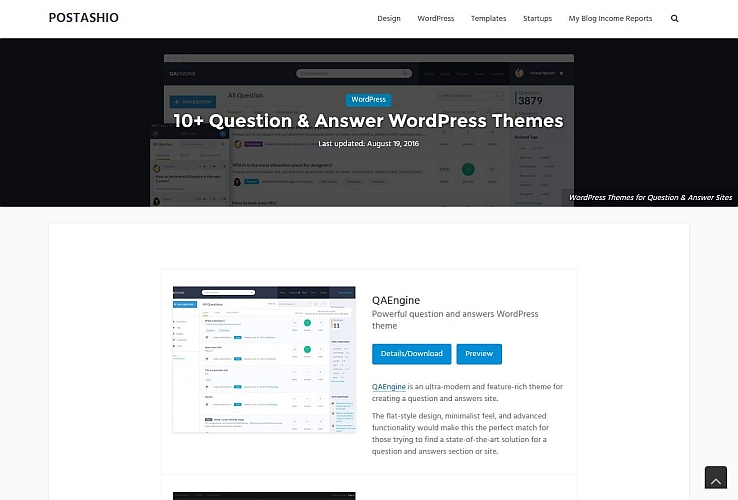 Question & Answer WordPress Themes
