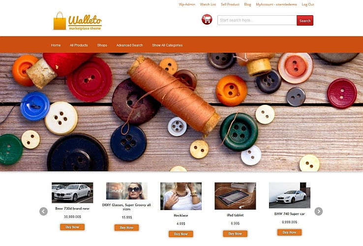 Walleto WordPress Theme by Sitemile