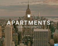 Apartments HTML Website Template by TemplateMonster