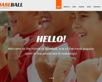 Baseball WordPress Theme by TemplateMonster