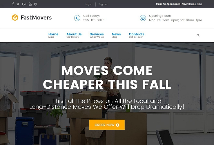 Fast Moving WordPress Theme by TemplateMonster