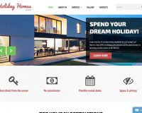 Holiday Homes for Rent HTML Website Template by TemplateMonster