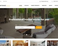 Intense Real Estate HTML Website Template by TemplateMonster