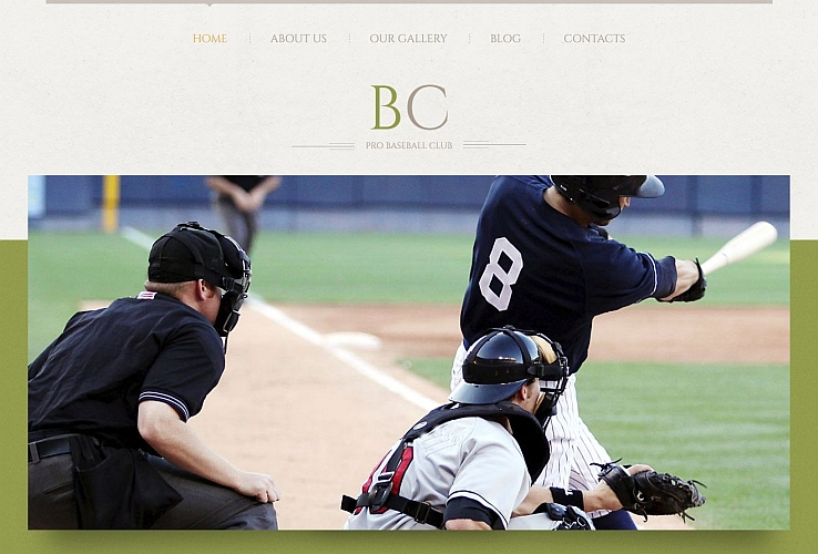 Pro Baseball Club WordPress Theme by TemplateMonster