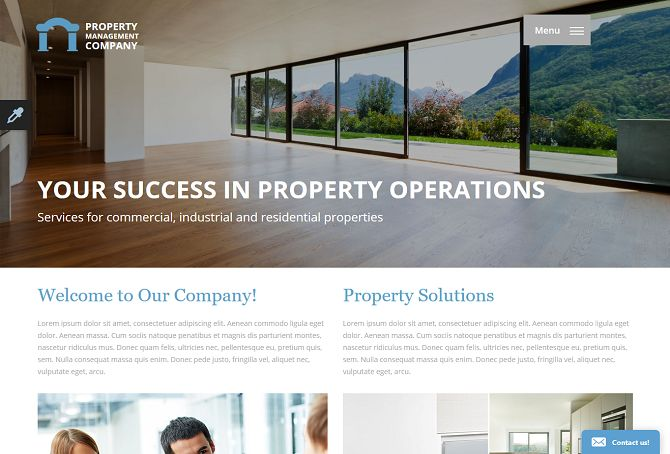 Property Management HTML Website Template by TemplateMonster