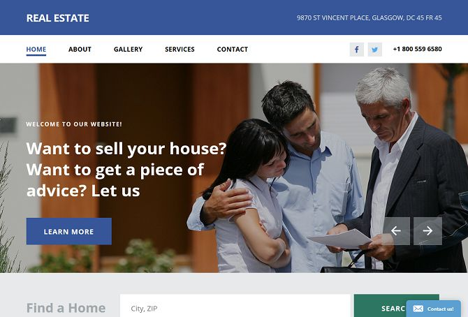 Real Estate Agency HTML Website Template by TemplateMonster