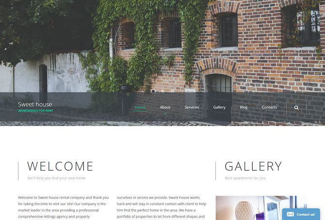 Sweet House HTML Website Template by TemplateMonster