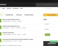 Answers WordPress Theme by Templatic