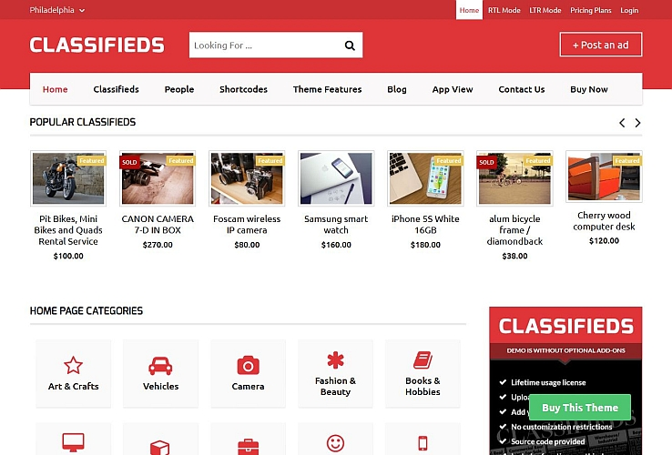 Classifieds Theme WordPress Theme by Templatic