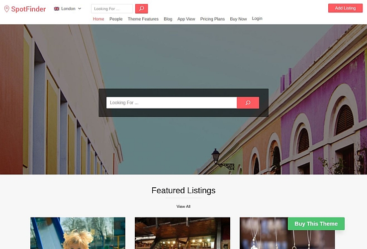 Spot Finder WordPress Theme by Templatic