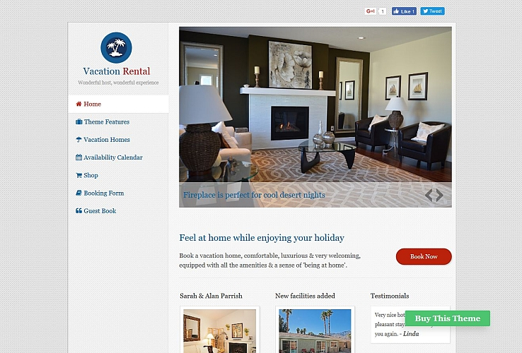 Vacation Rental WordPress Theme by Templatic
