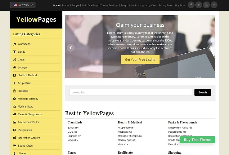 YellowPages WordPress Theme by Templatic