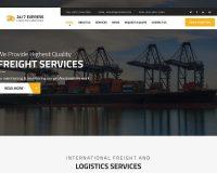 24/7 Express Logistics Services WordPress Theme via ThemeForest