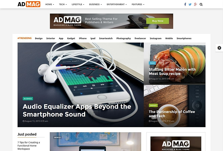 AdMag WordPress Theme via ThemeForest
