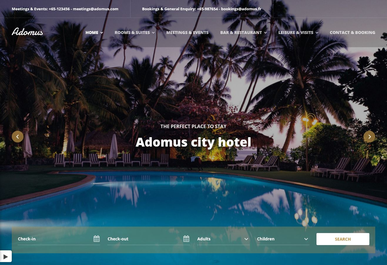 Adomus WordPress Theme via ThemeForest