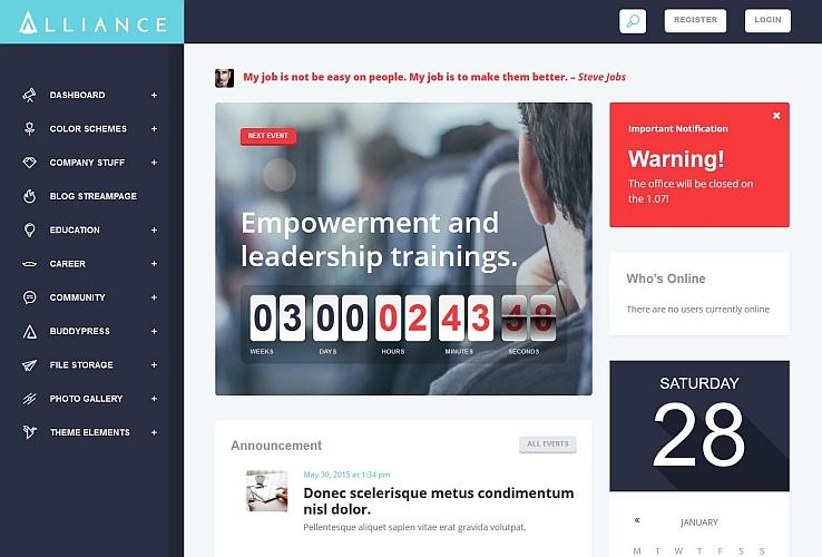 Alliance WordPress Theme via ThemeForest
