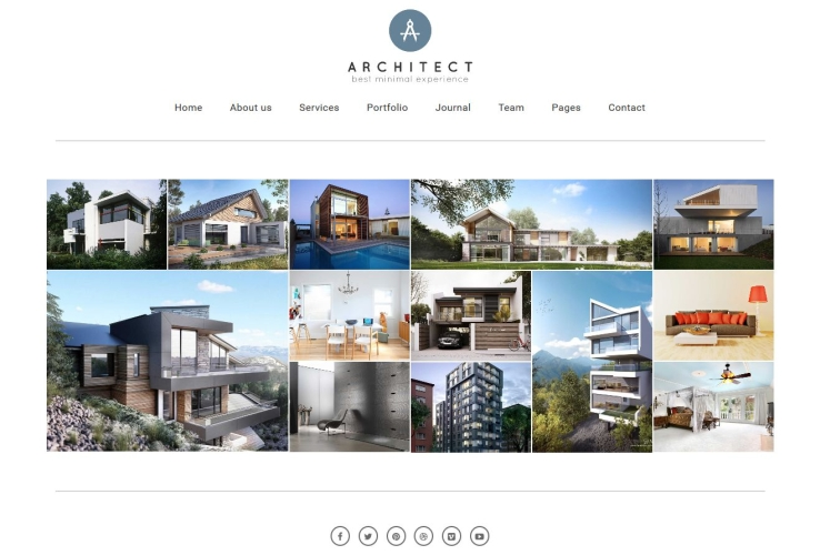 Architect WordPress Theme via ThemeForest