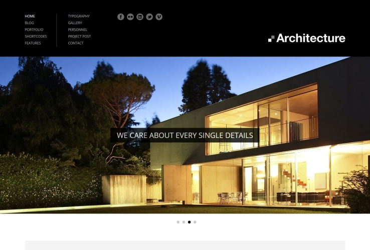 Architecture WordPress Theme via ThemeForest