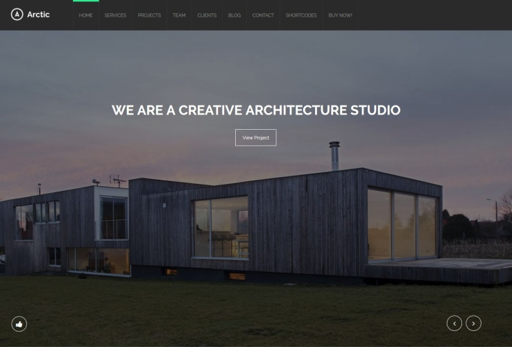 Arctic WordPress Theme via ThemeForest