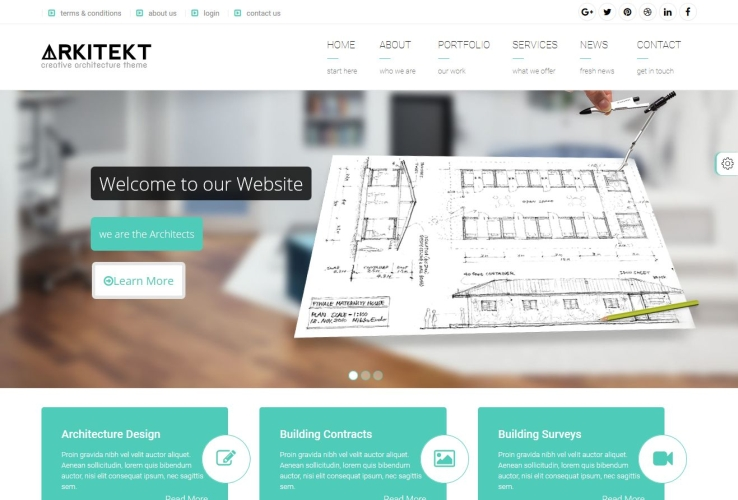 Arkitekt WordPress Theme via ThemeForest