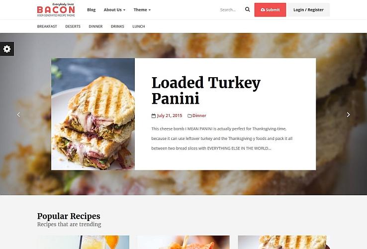 Bacon WordPress Theme via ThemeForest