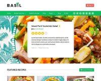 Basil Recipes WordPress Theme via ThemeForest