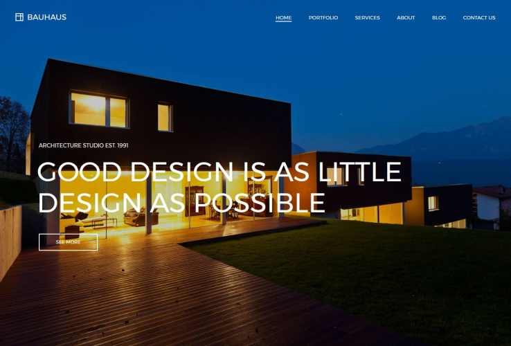 Bauhaus WordPress Theme via ThemeForest
