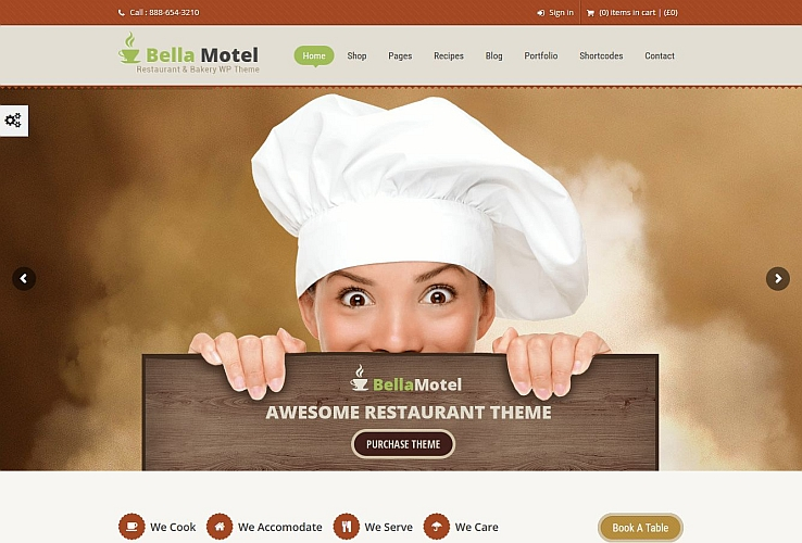 Bella Recipe WordPress Theme via ThemeForest