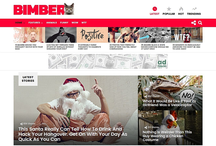 Bimber WordPress Theme via ThemeForest