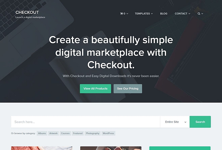 Checkout WordPress Theme via ThemeForest