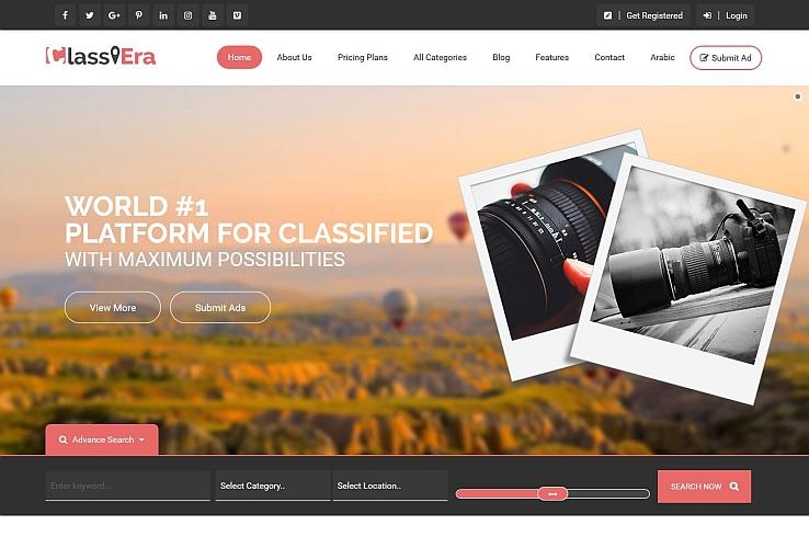 ClassiEra WordPress Theme via ThemeForest