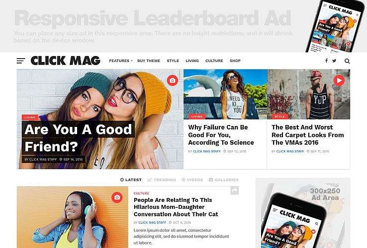 Click Mag WordPress Theme via ThemeForest