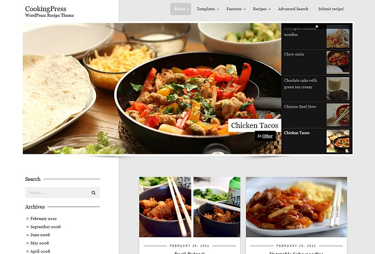 CookingPress WordPress Theme via ThemeForest