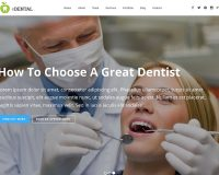 eDental WordPress Theme via ThemeForest