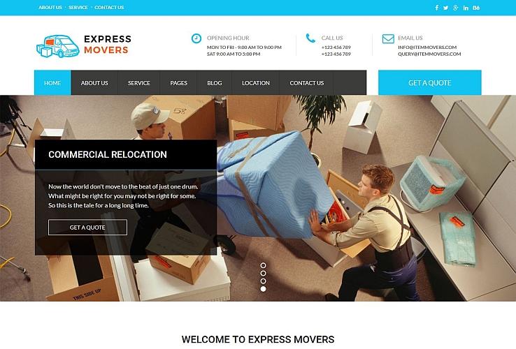 Express Movers WordPress Theme via ThemeForest