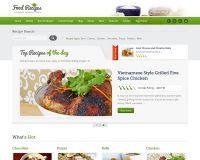 Food Recipes WordPress Theme via ThemeForest