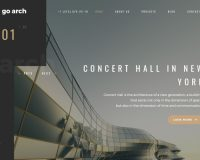 go.arch WordPress Theme via ThemeForest