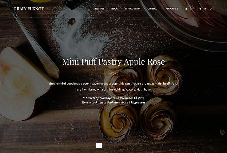 Grain & Knot WordPress Theme via ThemeForest