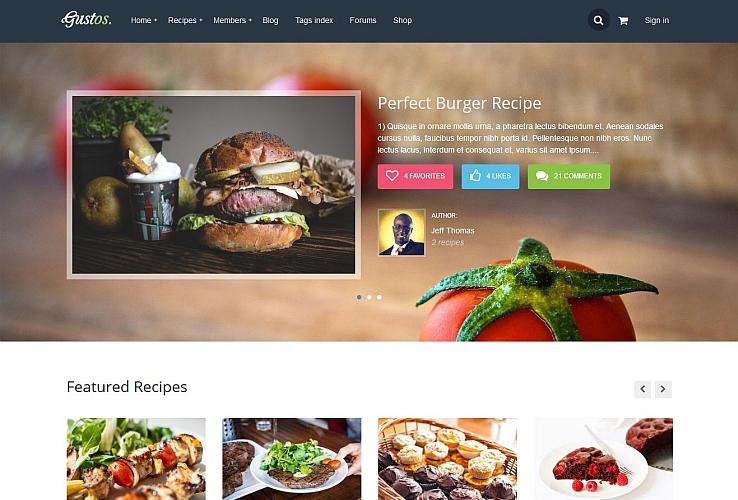 Gustos WordPress Theme via ThemeForest