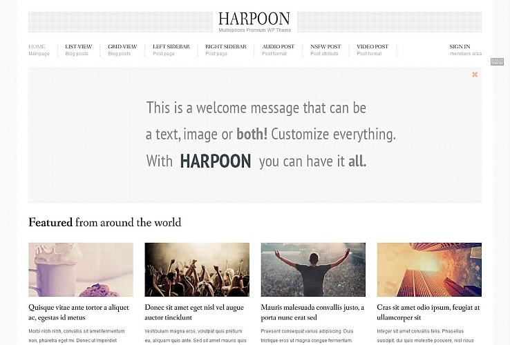 Harpoon WordPress Theme via ThemeForest