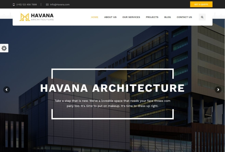 Havana WordPress Theme via ThemeForest