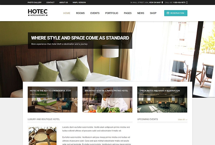 Hotec WordPress Theme via ThemeForest