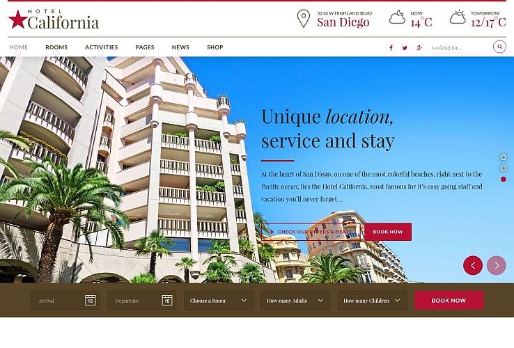 Hotel California WordPress Theme via ThemeForest