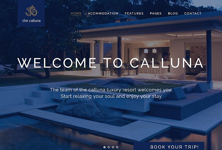Hotel Calluna WordPress Theme via ThemeForest