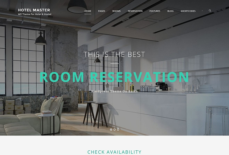 Hotel Master WordPress Theme via ThemeForest