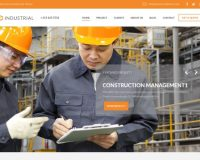 Industrial WordPress Theme via ThemeForest